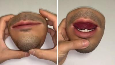 真到害怕!「人肉零錢包」牙齒牙齦通通都有 皮膚觸感好像還有血流