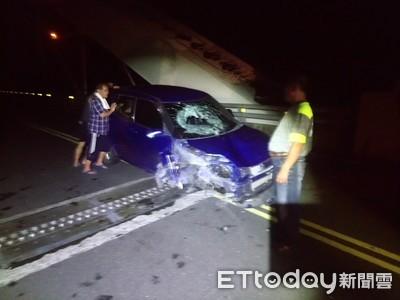 疑拍「多納大橋」夜景 遭女酒駕撞飛2重傷