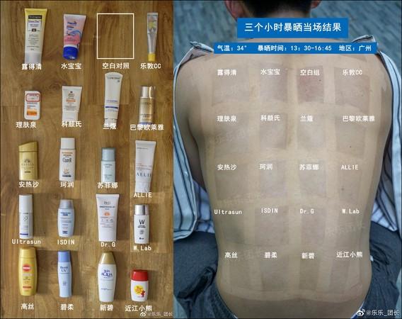 ▲▼化妝師找來「白老鼠」實測防曬產品。(圖/翻攝自微博/樂樂_團長)