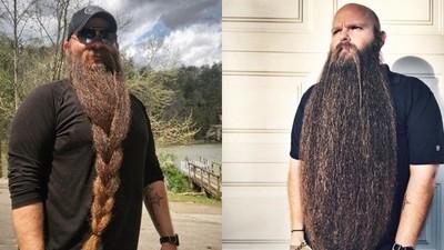 吃飯不會卡菜渣嗎?鬍子留5年長過腰 他還參加了全球鬍子大賽