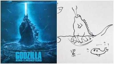謎團終於解開!哥吉拉為何能「站在海上」 網友圖解:腳在底下猛踢水