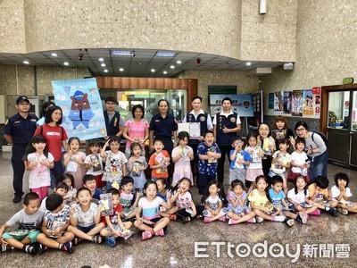 幼兒園參訪警分局 童體驗警裝備