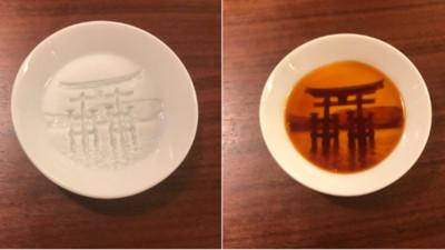美到開賣就搶光!醬油碟「浮出富士山、嚴島神社」 景深比水彩畫還猛
