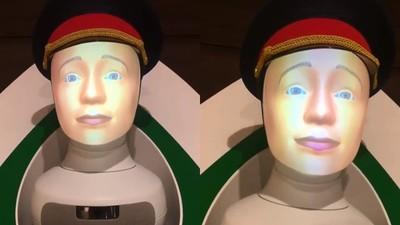 有點毛毛的…東京車站入駐「問路機器人」 遠看怎麼有點恐怖