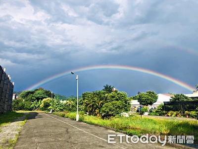 「巨C彩虹」華麗出現 南投人搶拍:超療癒