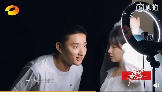 ▲▼于小彤和陳小紜拍婚紗照。(圖/翻攝自微博/我家那小子)