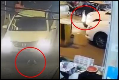 3歲弟遭白車「全身輾壓」 2秒後奇蹟出現