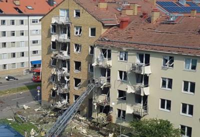 瑞典公寓爆炸「窗戶炸飛」多人傷