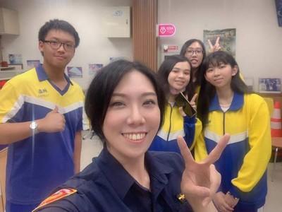 憧憬警察夢 學子生涯規劃訪員警