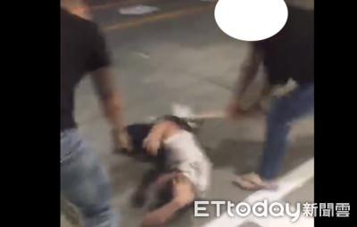 高雄街頭暴力動作片狂毆 男子遭球棒打倒
