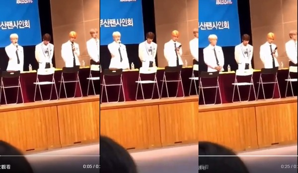 ▲THE BOYZ成員Eric、Q分別在簽名會向粉絲道歉。(圖/翻攝自rmwjgkstlazz推特)