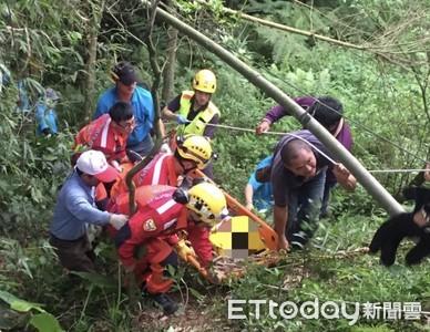 東勢林場員工墜山坡 命大僅腳傷