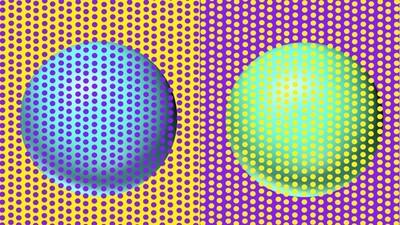 這兩顆球「不分藍綠」!顏色其實一模一樣,大腦又騙了你