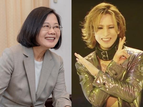 ▲X JAPAN團長密訪台灣釣出總統本尊!全日文回:讓我招待你。(圖/翻攝自蔡英文、YOSHIKI臉書)