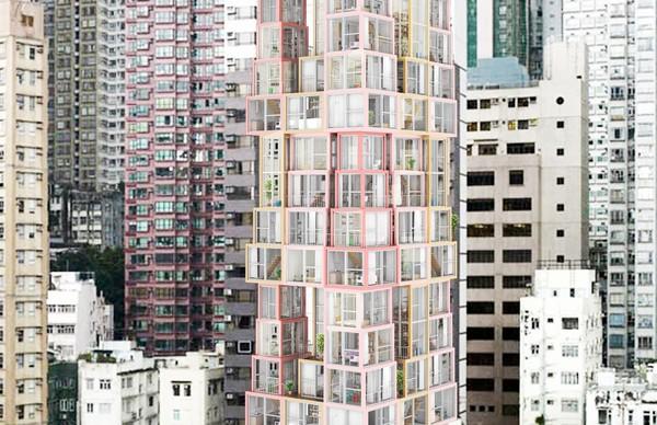 芝加哥創意設計模塊集合住宅 不管是桌子還是塔,疊穩了就能住