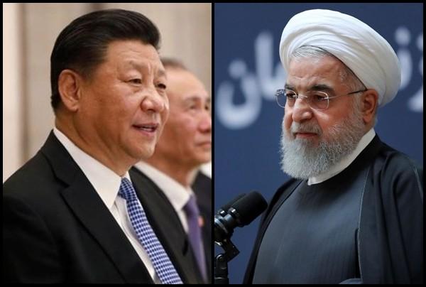 ▲▼中國國家主席習近平(左)14日與伊朗總統羅哈尼會面(右,Hassan Rouhani)。(組圖/達志影像/美聯社)