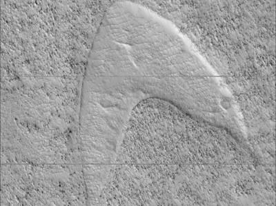 NASA火星上發現「星際艦隊」標誌