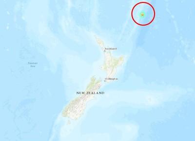 即/紐西蘭東北海域再傳6.3強震