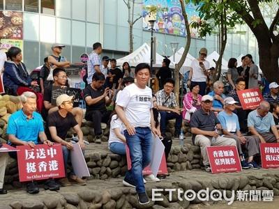 反送中 竹市時力、民進黨車站前聲援