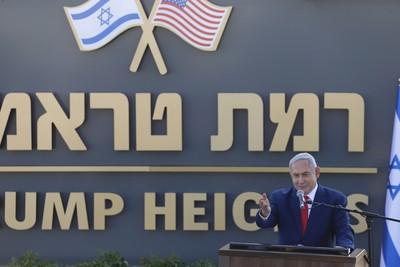 以色列總理揭牌「川普高地」屯墾區
