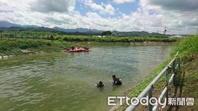 水面漂浮拖鞋...嘉南大圳水閘門婦人溺斃