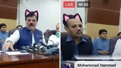 大鬍子官員「忘關貓咪濾鏡」!直播嚴肅高峰會,全國收視率飆升