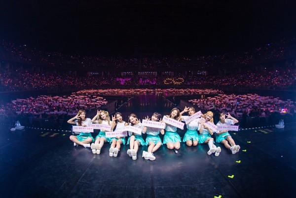 ▲TWICE在15日舉辦世巡第二站泰國場演唱會。(圖/翻攝自TWICE推特)