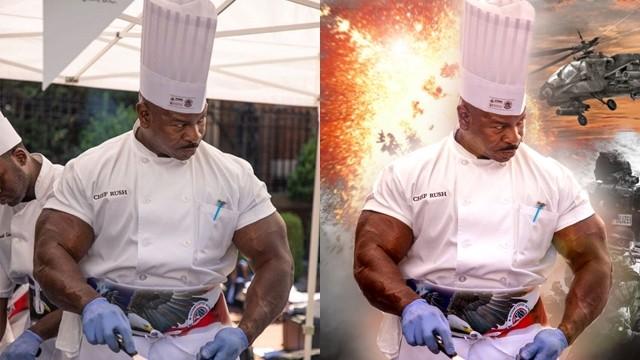 超壯廚師你敢嘴?「川普の御廚」手臂比腿粗 暖心用料理療癒退伍軍人