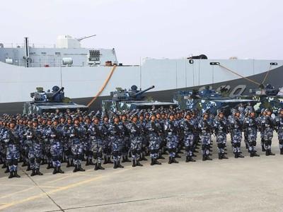 以美為師 逐漸擴編的中共海軍陸戰隊