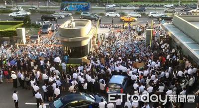 長榮罷工空拍圖 上千人反對PK贊成2:1