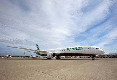 長榮航空首架787-10夢幻客機抵台