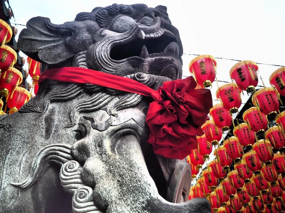 ▲▼廟,石獅子。(圖/取自免費圖庫Pixabay)