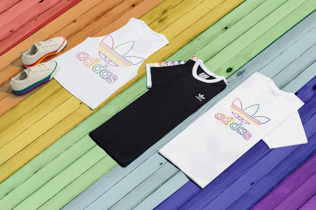 阿迪达斯Pride Month推出彩虹系列单品