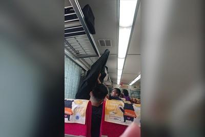 坐火車竟遭「龐然大物」砸中!乘客罵X的