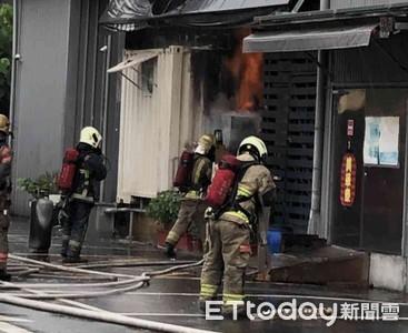 台南餐廳火警 疑瓦斯外洩廚師燒傷送醫