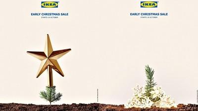 IKEA創意廣告又一發:雖然聖誕樹還沒長大 但可以先幫他買裝飾品囉