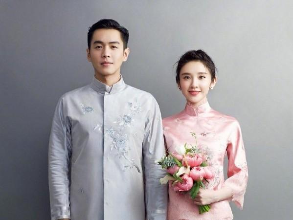 ▲▼唐藝昕、張若昀結婚。(圖/翻攝自微博、搜狐娛樂)