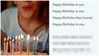 生日快樂歌竟是「刻意刪減版」 被隱藏歌詞絕對讓壽星氣肚爛