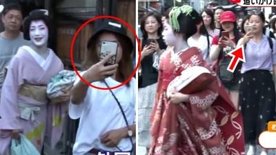 強拉手腕「騷擾藝妓」!觀光客沒禮貌搶合照 登上日本各大電視台