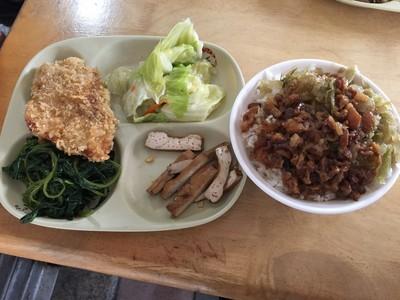 自助餐夾3菜+大雞排+滷肉飯 佛心價曝光
