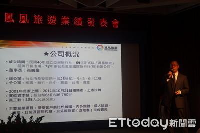 鳳凰榮登金質旅遊獎得獎王 前三季獲利1.69億元年增38%