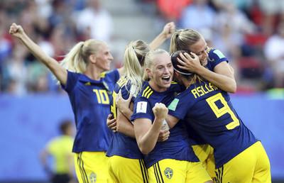 世界盃女足瑞典挺進4強拿奧運門票
