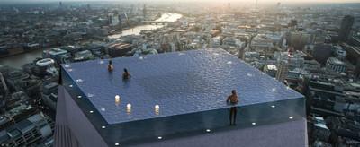 全球首座360度無邊際泳池在倫敦