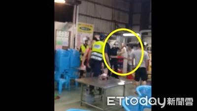 酒駕男吐口水被壓制 友「相撲式」肉搏警