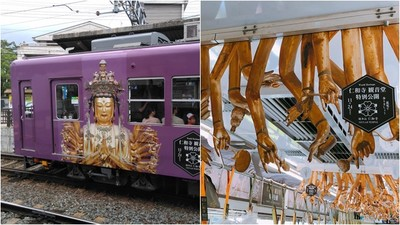 穿越車頂竄出「懸掛千手」! 京都限定觀音電車嚇尿網友:開往極樂