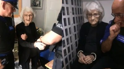 「這輩子沒吃過牢飯」 93歲老奶奶一生人太好 孫女幫求警察逮捕她