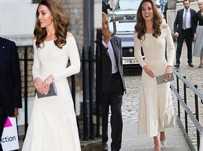凱特王妃穿亮片高跟鞋出席慈善晚宴