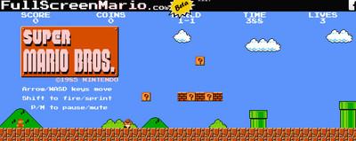 網頁版超級瑪莉-Full Screen Mario