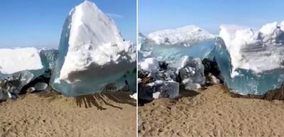 「冰海嘯」景象直逼末日…居民歡欣搶拍!