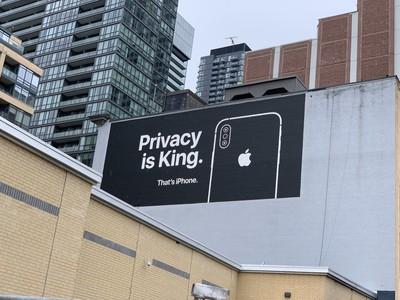 這就是iPhone!蘋果再掛兩巨幅廣告 強調重視隱私